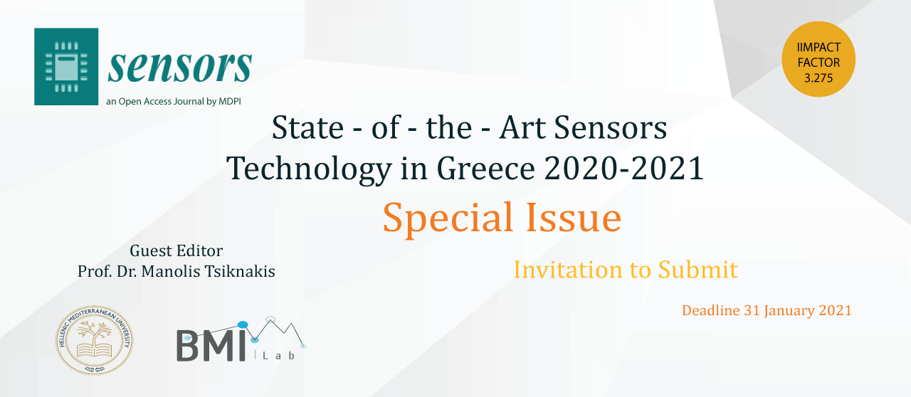 Special issues Sensors Journal